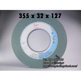 หินเจียรสีเขียว ขนาด14นิ้ว-355x32x127mm.
