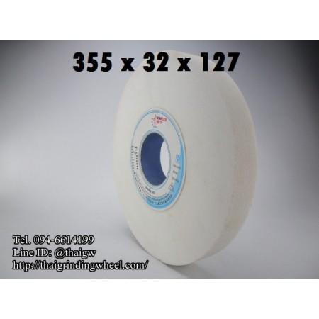 หินเจียรสีขาว ขนาด14นิ้ว-355x32mm