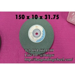 หินเจียรสีเขียว ขนาด6นิ้ว-150x10mm.