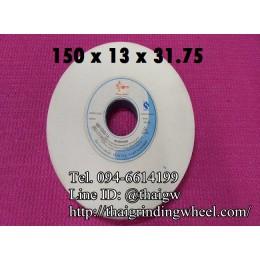 หินเจียรสีขาว ขนาด6นิ้ว-150x13mm.