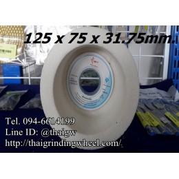 หินถ้วยทรงกระบอกสีขาว ขนาด5นิ้ว-125x75mm.