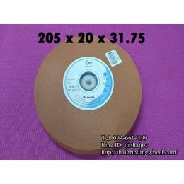 หินเจียรสีส้ม ขนาด8นิ้ว-205x19mm.