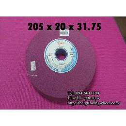 หินเจียรสีชมพูม่วง ขนาด8นิ้ว-205x20mm.