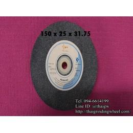 หินเจียรสีเทาขนาด6นิ้ว-150x25